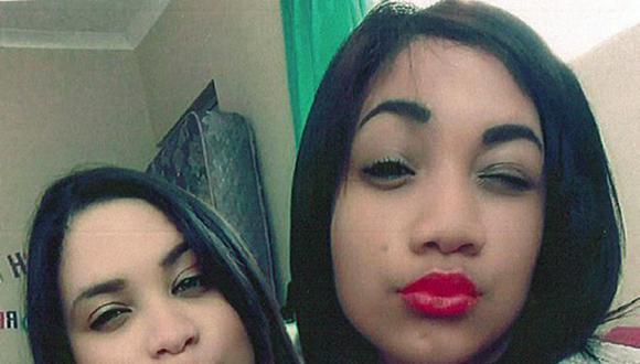 Otro selfie, tomado años después de la primera, muestra una sorprendente similitud entre Miché (izq) y su hermana Cassidy. (Foto: BBC Mundo).