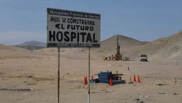 El Hospital de Huarmey es uno de los centros de salud del país cuya construcción está retrasada.