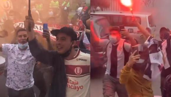 Hinchas de Universitario y Alianza Lima realizaron impresionantes banderazos. (Captura: Facebook)