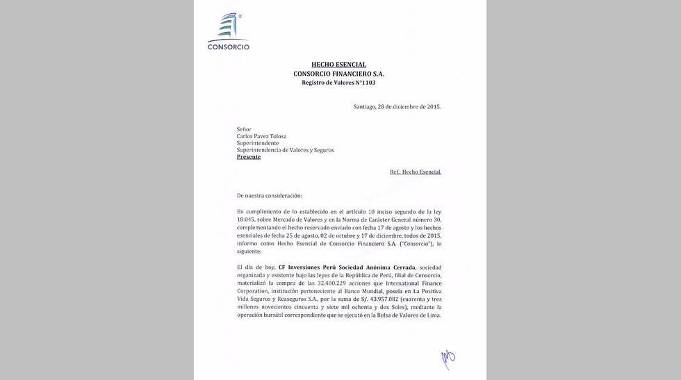 Consorcio Financiero concretó compra del 40,1% de La Positiva - 2