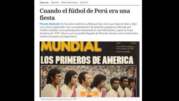 Diario Clarín recuerda la época dorada del fútbol peruano