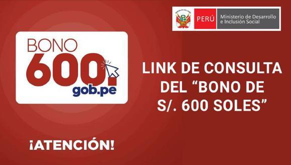 El Bono 600 será un auxilio económico para los peruanos afectados económicamente. (Foto: Gob.pe)