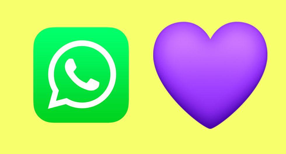 ¿Sabes realmente lo que es un corazón púrpura si lo envías a alguien por WhatsApp? (Foto: Emojipedia)