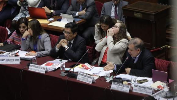 La Comisión de Constitución recibió este viernes al ministro de Justicia, Vicente Zeballos. (Foto: Anthony Niño De Guzmán)