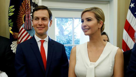 Ivanka Trump, hija y asesora del presidente de Estados Unidos, Donald Trump, y su marido, Jared Kushner.  (Foto: AFP)