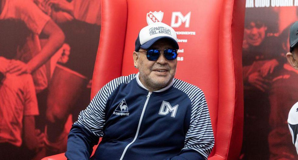 Diego Maradona está aislado del plantel de Gimnasia y Esgrima. (Foto: AFP)