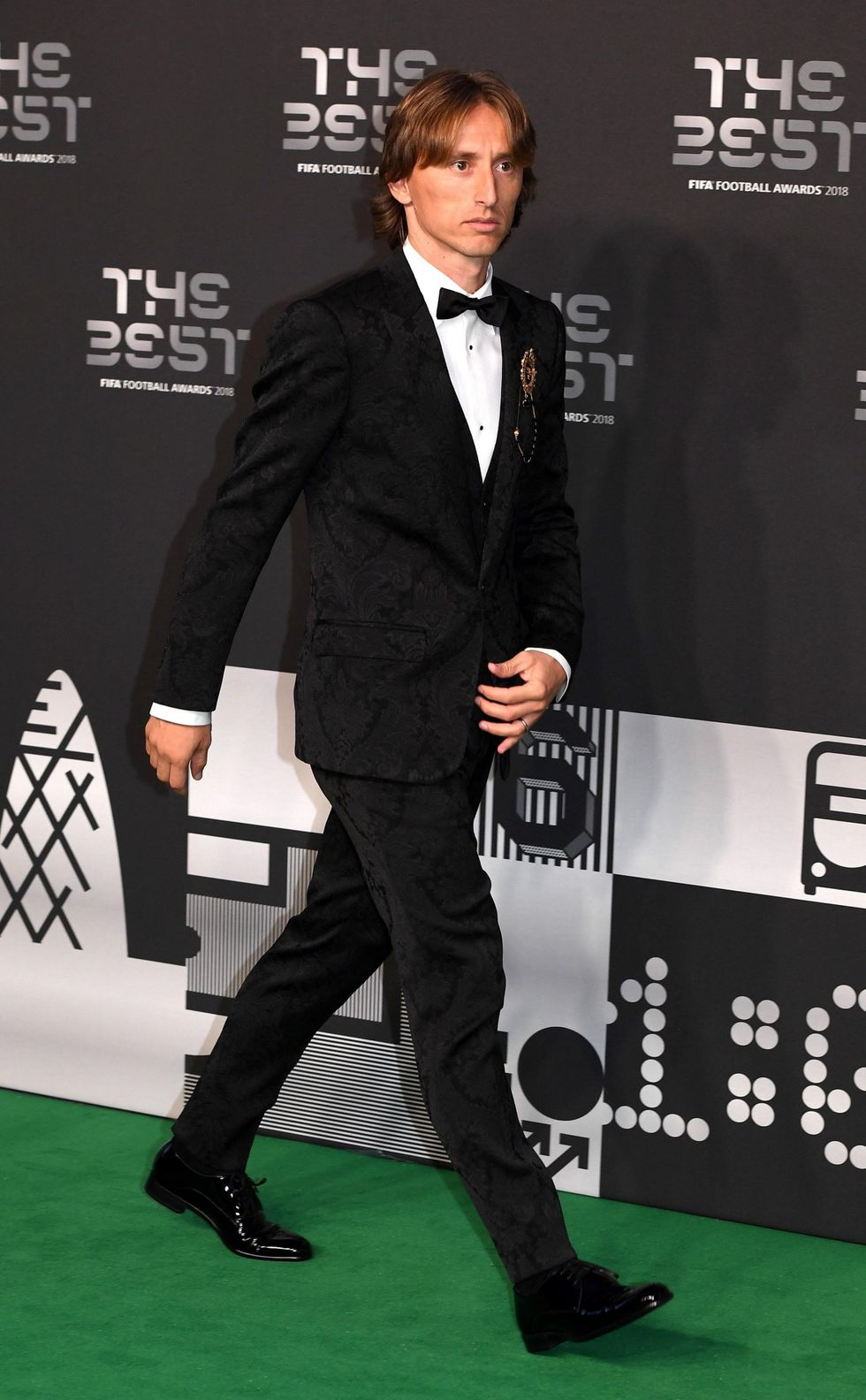 Luka Modric llegando a la gala de FIFA The Best. (Foto: AFP)