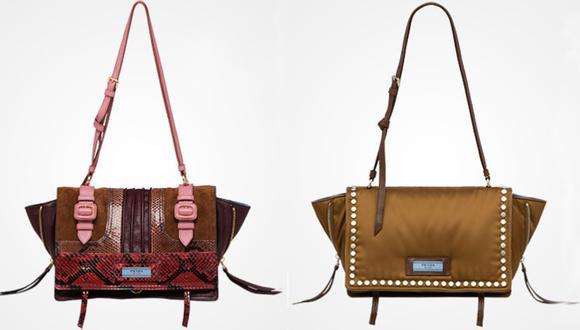 Para Prada el tamaño de las carteras va reducido, un bolso más pequeño pero que definitivamente resalta si lo ponemos sobre un outfit. Los colores se arriesgan con nuevas tonalidades y se busca resugir a las tachuelas con un nuevo estilo. (Foto: Difusión).