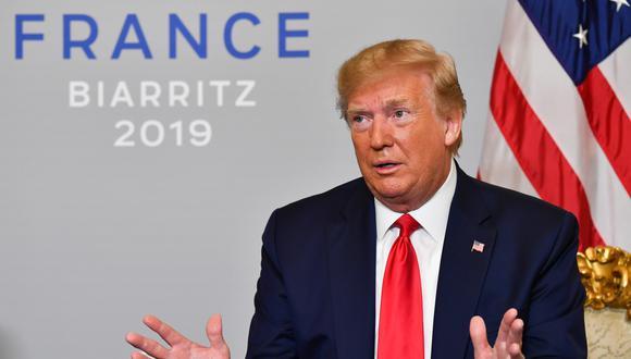 """""""Vamos a reanudar las negociaciones muy pronto. Pienso que alcanzaremos un acuerdo"""", añadió Donald Trump. (Foto: AFP)"""