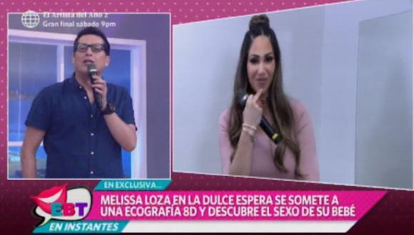 """Melissa Loza y sus primeras declaraciones tras anunciar su embarazo: """"Estoy llena de emociones"""". (Foto: Captura de video)"""
