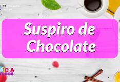 Suspiro de chocolate: receta de delicioso postre