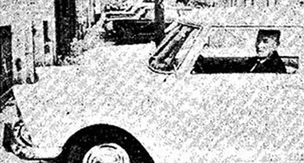 Federico Stein, el conductor del primer automóvil a vapor de Lima . (Archivo Histórico El Comercio)