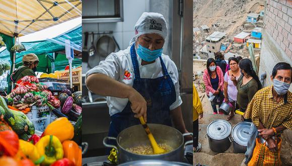 Comida Para Todos Perú busca generar una cadena virtuosa de solidaridad, que ayude a reactivar la economía desde el productor hasta el pequeño restaurante para proveer de alimentos diarios a los beneficiarios de ollas comunes de Lima. (Fotos: PUCA)