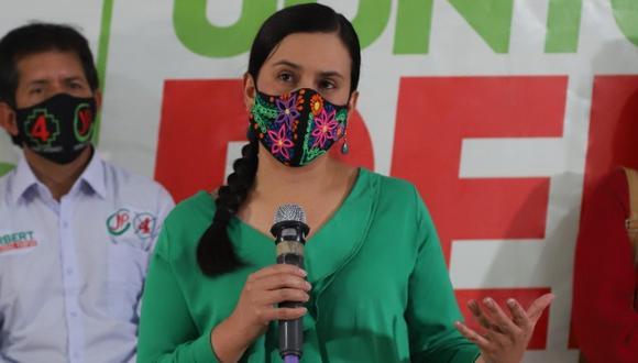 Verónika Mendoza recibió el apoyo del español Pablo Iglesias también en la campaña del 2016. Laura Arroyo también la respaldó a título personal aquella vez. (Foto: Luis Centurión / GEC)