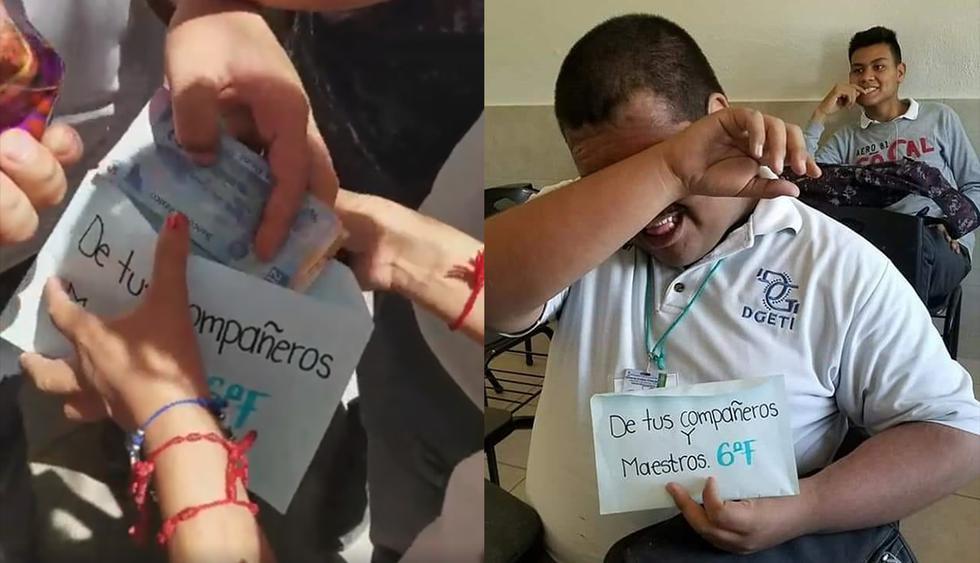 Estudiantes en México donan sus becas a un compañero de bajos recursos para que pueda estudiar. (Facebook)