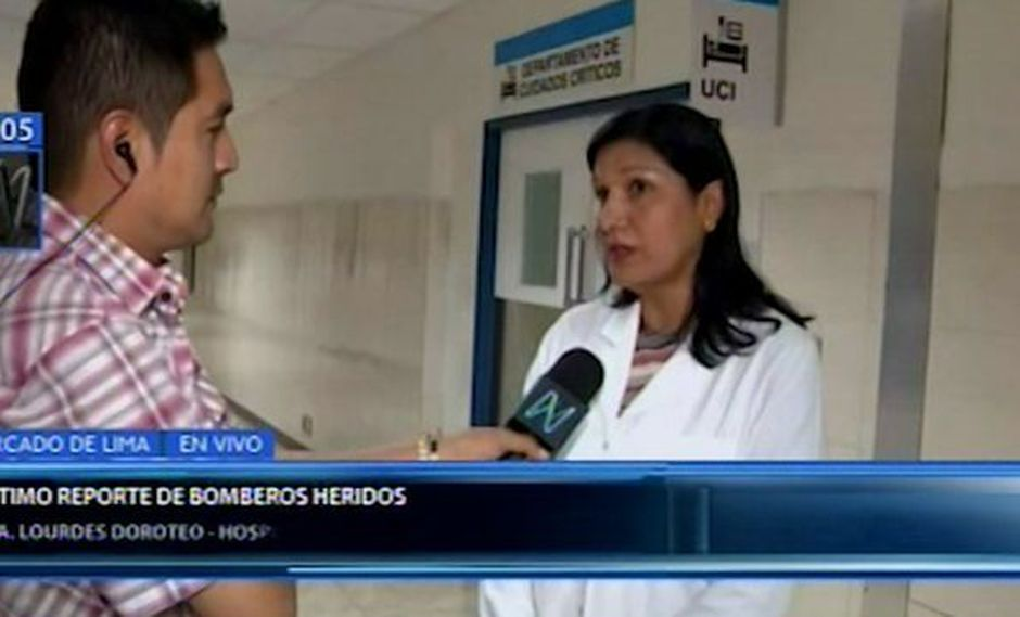 Representante del hospital Guillermo Almenara detalló sobre situación de bomberos heridos durante incendio en Villa El Salvador. (Foto: Canal N)