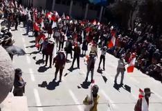 Cusco: población de Espinar realiza desfile por Fiestas Patrias en plena pandemia   VIDEO