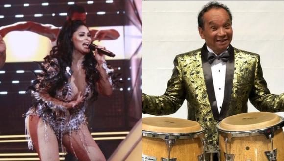 """Pablo Villanueva 'Melcochita' se presentará en """"El artista del año"""" para cantar junto a Pamela Franco. (Foto: @pame.viera_16/@melcochitaoficial)."""