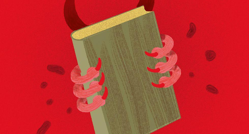 La alucinante historia de la llamada 'biblia del diablo', por Pedro Suárez-Vértiz. (Ilustración: Nadia Santos)