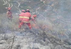 Bomberos especializados llegarán mañana a Kuélap para sofocar incendio forestal