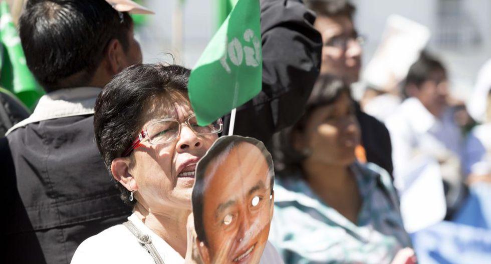 Realizaron protesta para exigir liberación de Gregorio Santos - 1