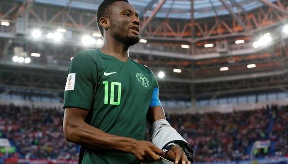 Obi Mikel, capitán de Nigeria, contó el drama que vivió en silencio horas antes del partido clave ante Argentina, por el pase a octavos de final de Rusia 2018. (Foto: AFP)