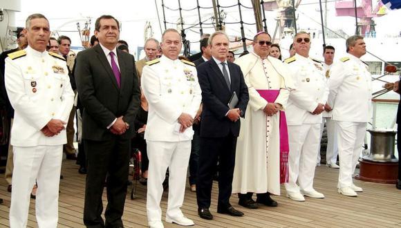 """Por séptimo año consecutivo, la Marina de Guerra del Perú, la Fundación Miguel Grau y Telefónica anunciaron el lanzamiento de la VII Cruzada Nacional de Valores """"Somos Grau Seámoslo Siempre"""" y el séptimo Premio Nacional Almirante Miguel Grau. (Difusión)"""