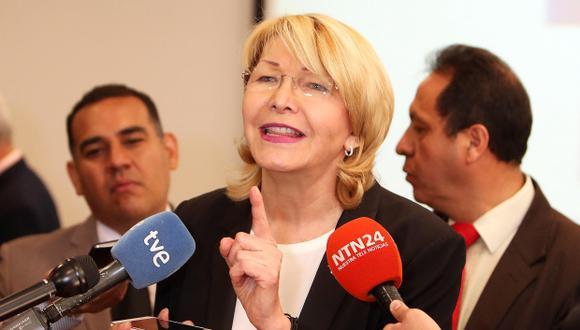 Luisa Ortega, ex fiscal destituida de Venezuela. (Foto: EFE)