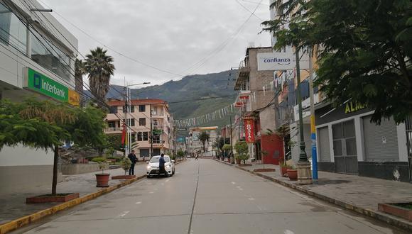 Las calles de la región Apurímac lucen vacías por el estado de emergencia, el pasado 18 de marzo.