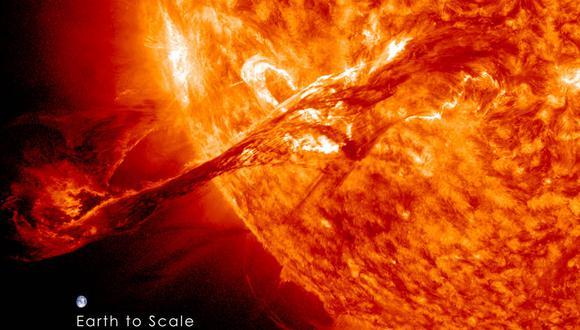 Una erupción solar registrada el 31 de agosto de 2012. (Foto: NASA / SDO / AIA)