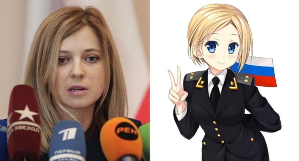 Natalia Poklonskaya, la bella fiscal de Crimea en manga japonés