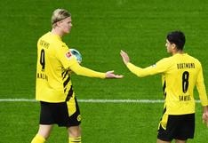 Erling Haaland colaboró con póker de goles para victoria del Dortmund contra Hertha | VIDEO