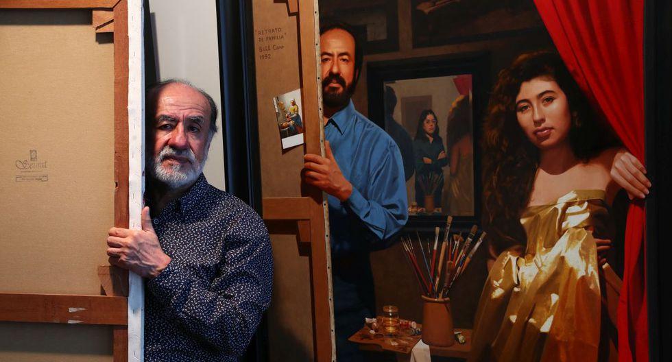 Bill Caro, pintor peruano de culto, inagura una exposicion basada en una serie de cuadros pintados a la manera del pintor holandes Vermeer, maestro de la pintura del Siglo XVII. (Foto: Alessandro Currarino/El Comercio)