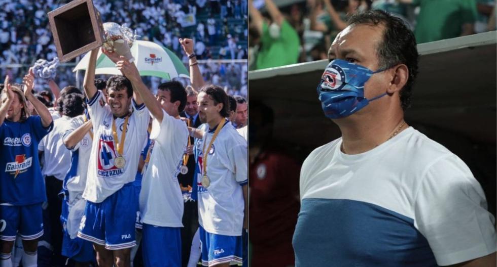 Juan Reynoso fue campeón en 1997 con Cruz Azul como jugador. Este domingo, 23 años después, volvió a proclamarse con la 'Máquina' pero ahora como técnico.