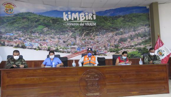 La Red de Servicio de Salud de Kimbiri – Pichari exhortó a la población a cumplir el aislamiento social obligatorio. (Foto: Jorge Quispe)