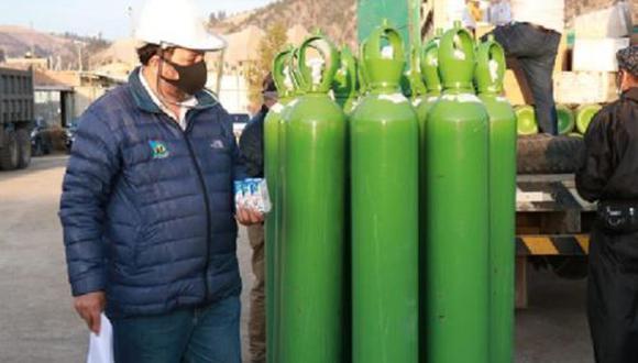Apurímac: 198 balones de oxígeno medicinal fueron adquiridos para pacientes COVID-19 (Foto: Andina).