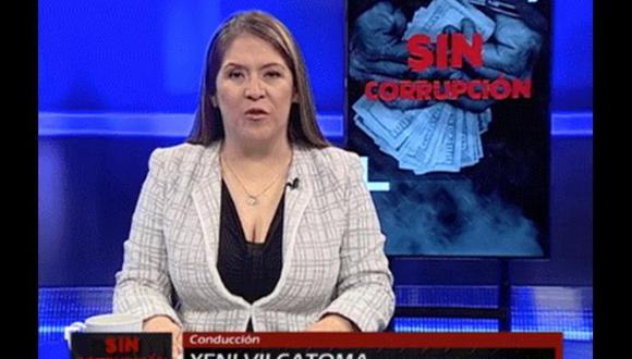 """Vilcatoma agradeció a los parlamentarios críticos porque """"han lanzado al estrellato un programa humilde"""". (Foto: Congreso TV)"""