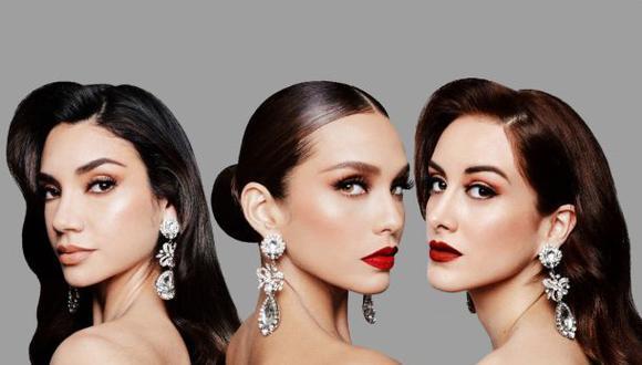 Miss Perú La libertad (Solange Hermoza), Miss Perú USA (Janick Maceta) y Miss Perú San Martín (Maricielo Gamarra), finalistas del Miss Perú. (Instagram: @jessicanewtonoficial)