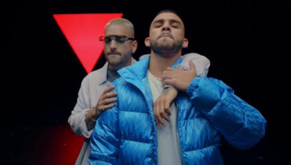 """Maluma y Manuel Turizo unen sus voces para lanzar """"Amor en coma"""". (Foto: Captura de YouTube)"""