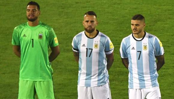 Romero, Otamendi e Icardi. (Foto: Reuters)