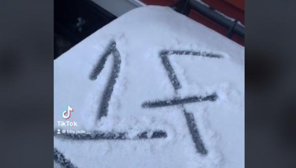 Al salir de casa encontró un '1F' escrito en un cubo y los usuarios le advirtieron que su vida podría correr peligro. (Foto: bby.jade__ / TikTok)
