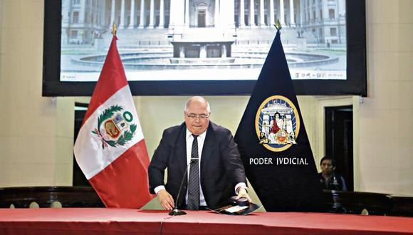 La decisión de sancionar al juez César San Martín fue por unanimidad en el pleno de la JNJ. (Foto: Alonso Chero para El Comercio)