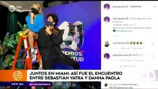 Sebastián Yatra y Danna Paola tuvieron emotivo encuentro y lo compartieron en redes sociales
