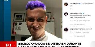 Seleccionados peruanos comparten en redes sociales cómo viven la cuarentena