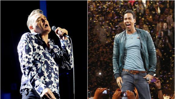 Morrissey y Romeo Santos (Foto: Agencia)