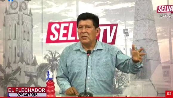 El comunicador el último día que apareció al aire en su programa, el pasado martes. (Foto: captura de imagen/ Selva TV)