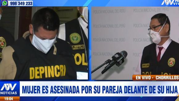 Junior Flores Laines fue detenido en su casa tras llevar a su pareja, Norma Guillén Luque, al hospital Casimiro Ulloa. (ATV)