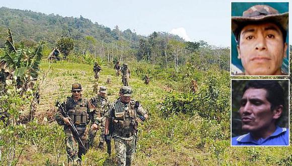 Alejandro Borda Casafranca, alias 'Alipio', y Marco Quispe Palomino, alias 'Gabriel', fueron abatidos durante la 'Operación Camaleón' el 11 de agosto del 2013. (USI)