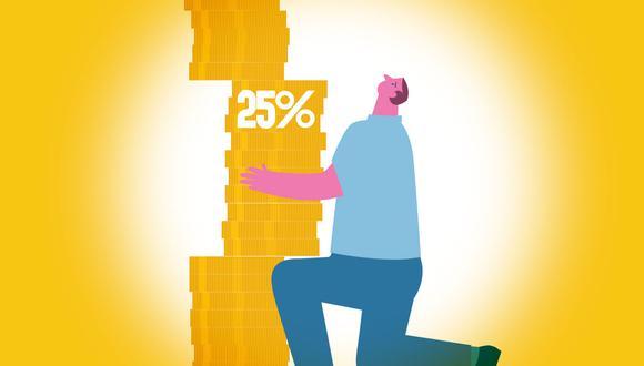 El último viernes, el Congreso de la República publicó la ley que permite a las personas, con cuentas en el sistema privado de pensiones (SPP), retirar el 25% de su fondo previsional. (Ilustración: El Comercio)