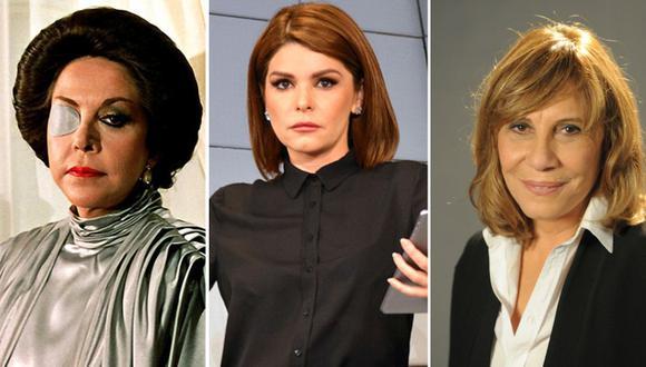 Estas actrices fueron las antagonistas de diversas telenovelas y se consagraron como las más malas de la pantalla chica (Foto: Televisa / Rede Globo)